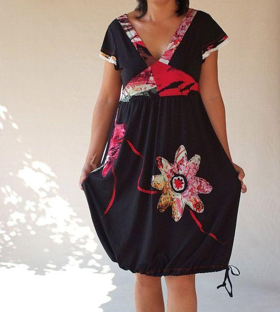 Black Vneck women dresses/little black dresses/holiday par Zayade, $99.90