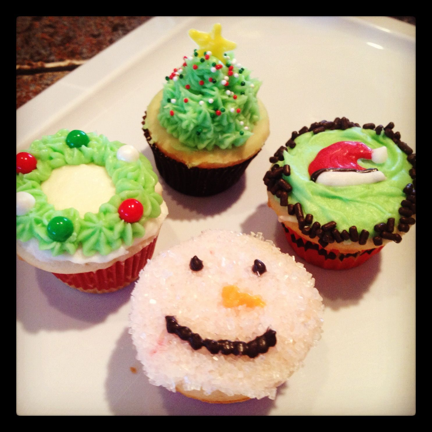 Holiday Cupcakes By StacyCakes  Pinterest
