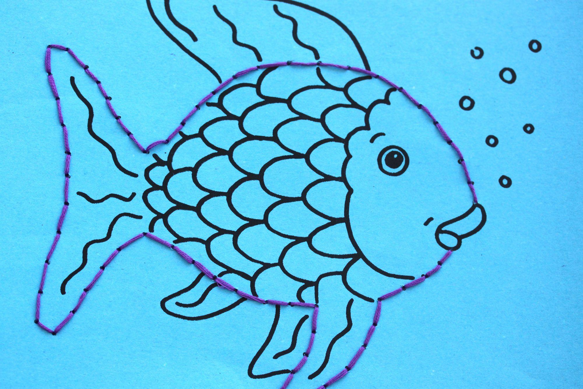 pin auf der regenbogenfisch