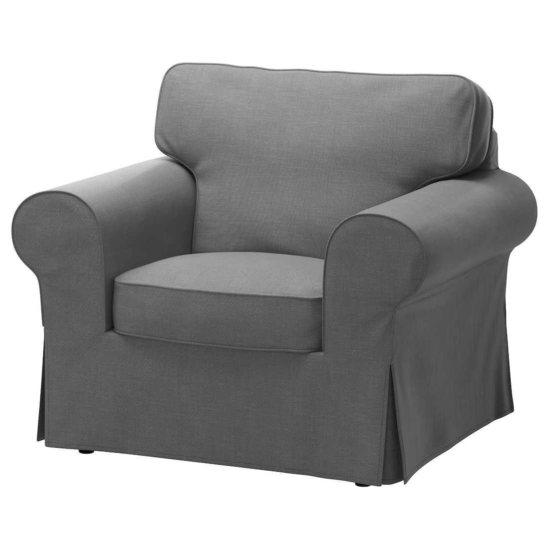 EKTORP Chair cover, Nordvalla dark gray IKEA in 2020