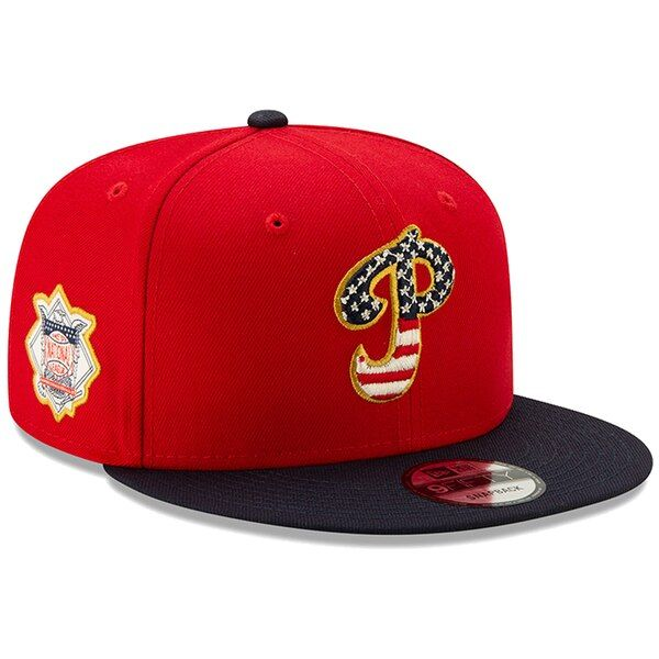 many fashionable check out for whole family Men's Philadelphia Phillies New Era Red/Navy 2019 Stars & Stripes ...