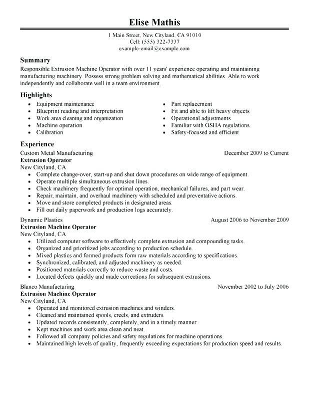 chemical operator resume collection of solutions resume