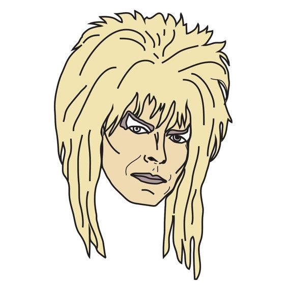 "David Bowie Jareth /""The Goblin King/"" Labyrinth Enamel pin Badge"