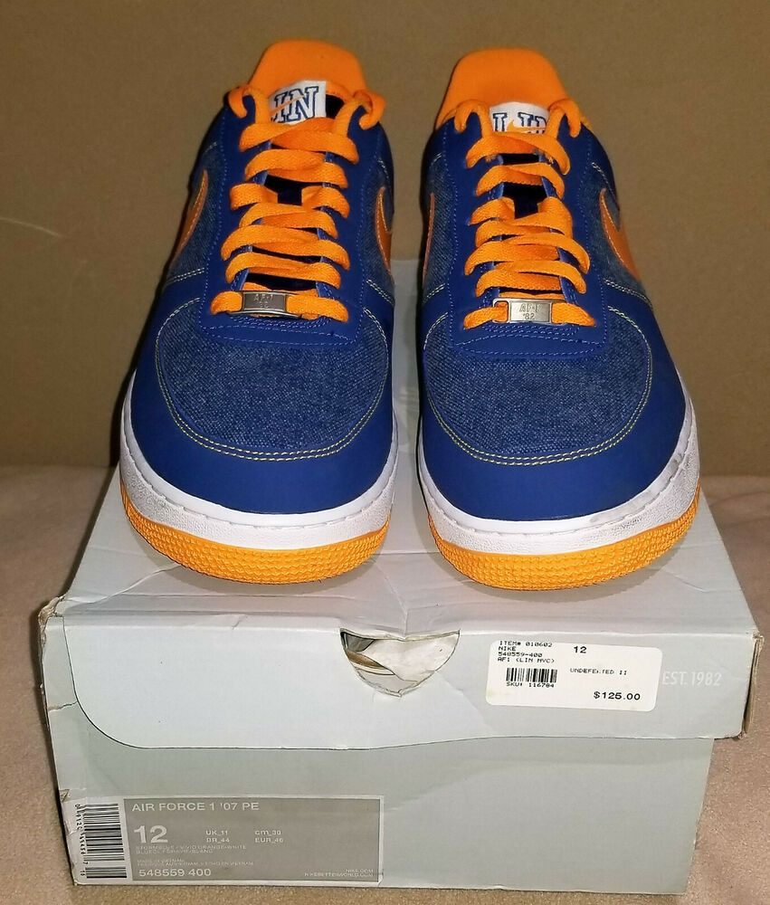 newest 09a17 27180 Nike Air Force 1  07 PE Low Jeremy Lin 548559-400 Size 12