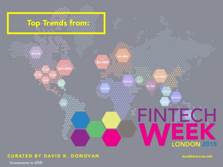 David K. Donovan, Global Portfolio Lead at Sapient Global Markets in Boston shares some of the top trends noted to emerge from London FinTech Week, 2015.