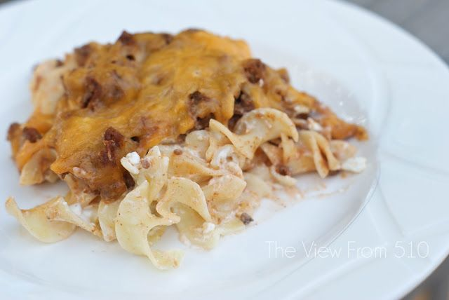 Sour Cream Noodle Bake #Recipe - my favorite family meal!