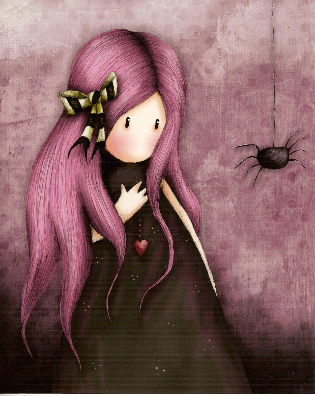 Gorjuss Gothic Beauty X Leuke Kleurplaten Pinterest Spider