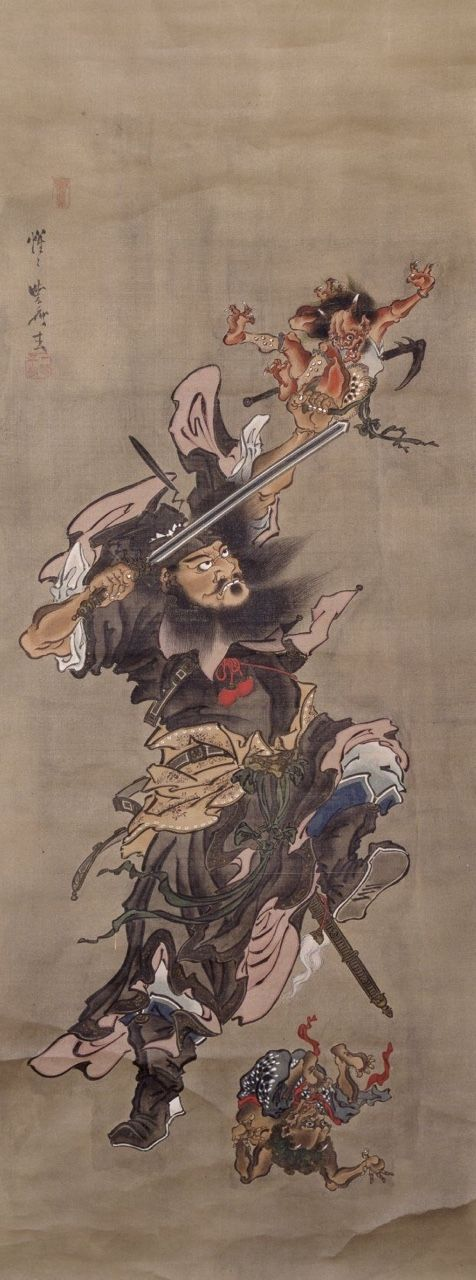 Claimed to be by Kawanabe Kyōsai. Still badass.