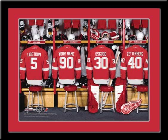 9ae504e16d4 Detroit Red Wings Personalized Locker Room Print