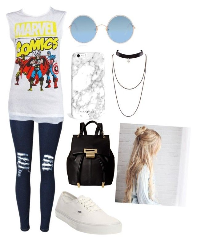 """Sin título #154"" by vero-lightwood34 on Polyvore featuring moda, Marvel Comics, Vans, Ivanka Trump y Sunday Somewhere"