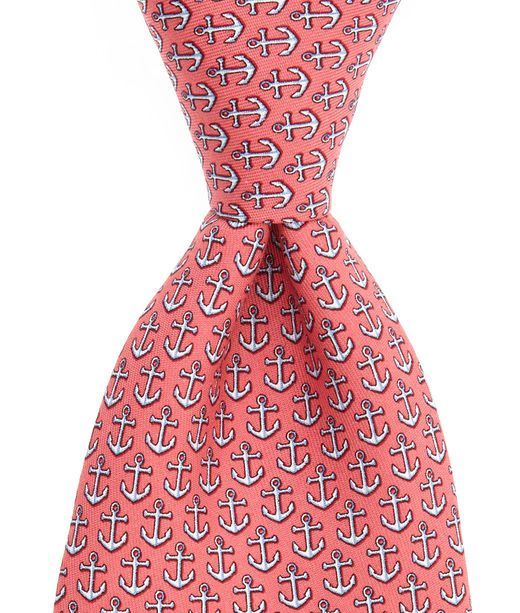961da66e30f6 Anchor Tie | Gifts for the men | Mens silk ties, Anchor print, Silk ties