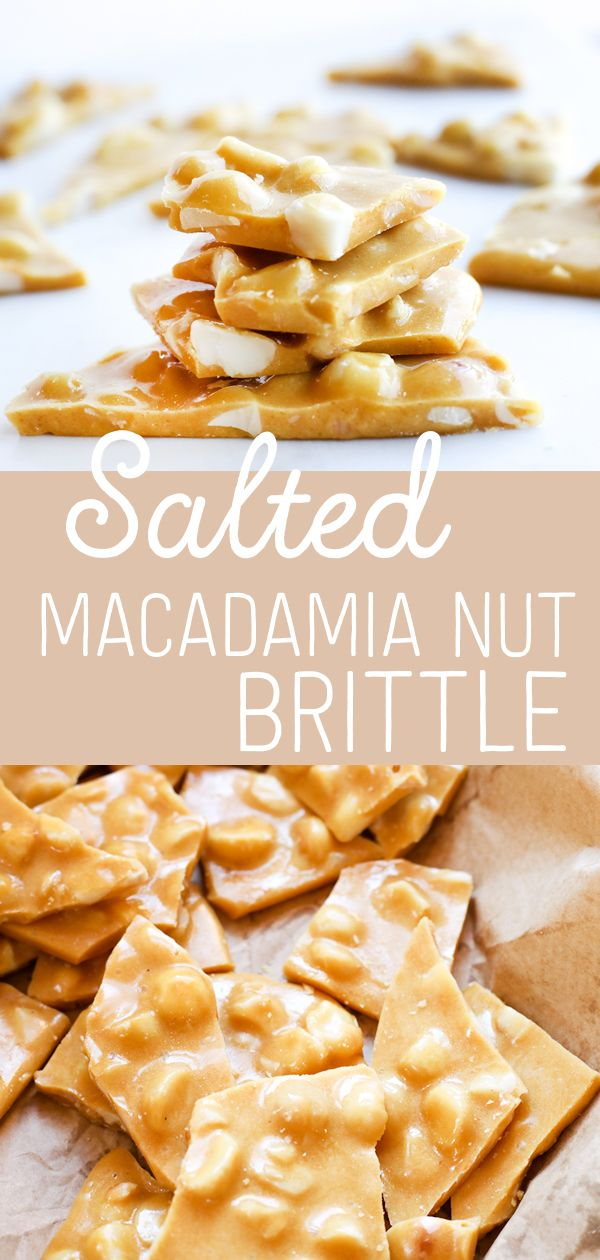 Photo of Easy Salted Macadamia Nut Brittle Recipe