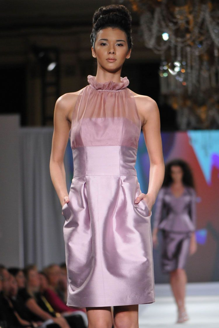 Creation | Evening | Luly Yang I love this veiled lavender dress by ...