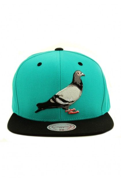 Staple x Mitchell   Ness Pigeon Snapback Hat - Turquoise  30.00 ... 47798d6ad089