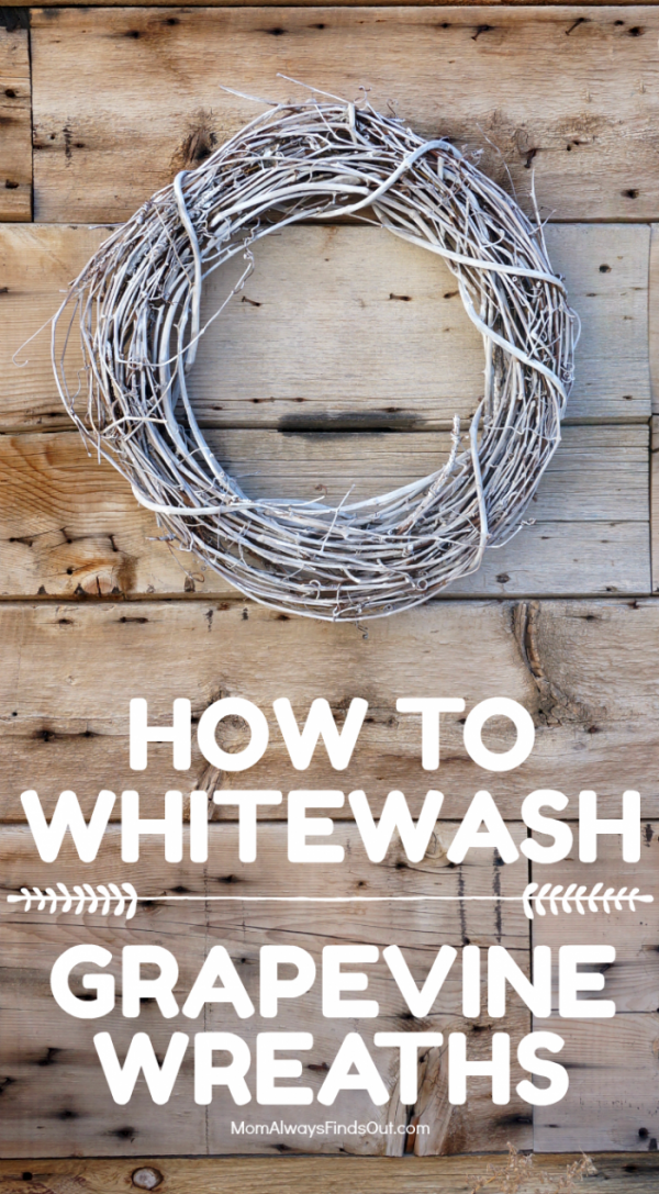 How To Whitewash A Grapevine Wreath For A Diy Wreath You Ll Love Diy Grapevine Wreath Grape Vines Grapevine Wreath