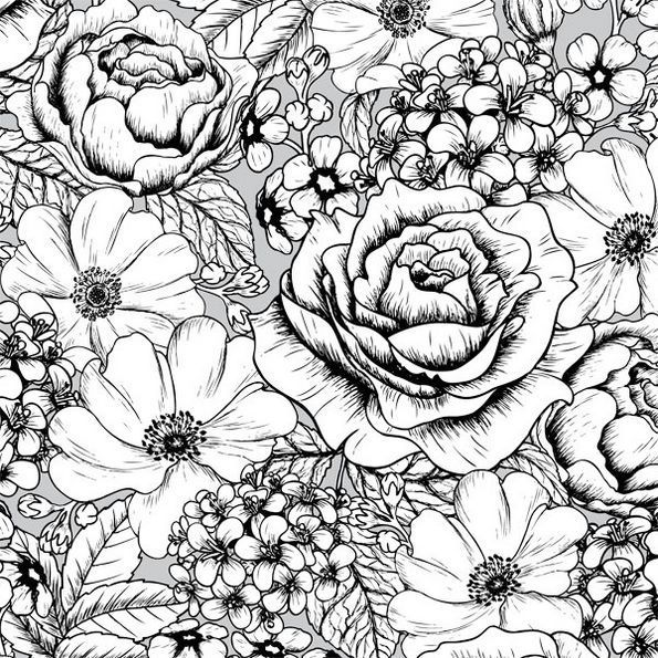 Pattern Intricate Flower Coloring Page Flower Coloring Pages