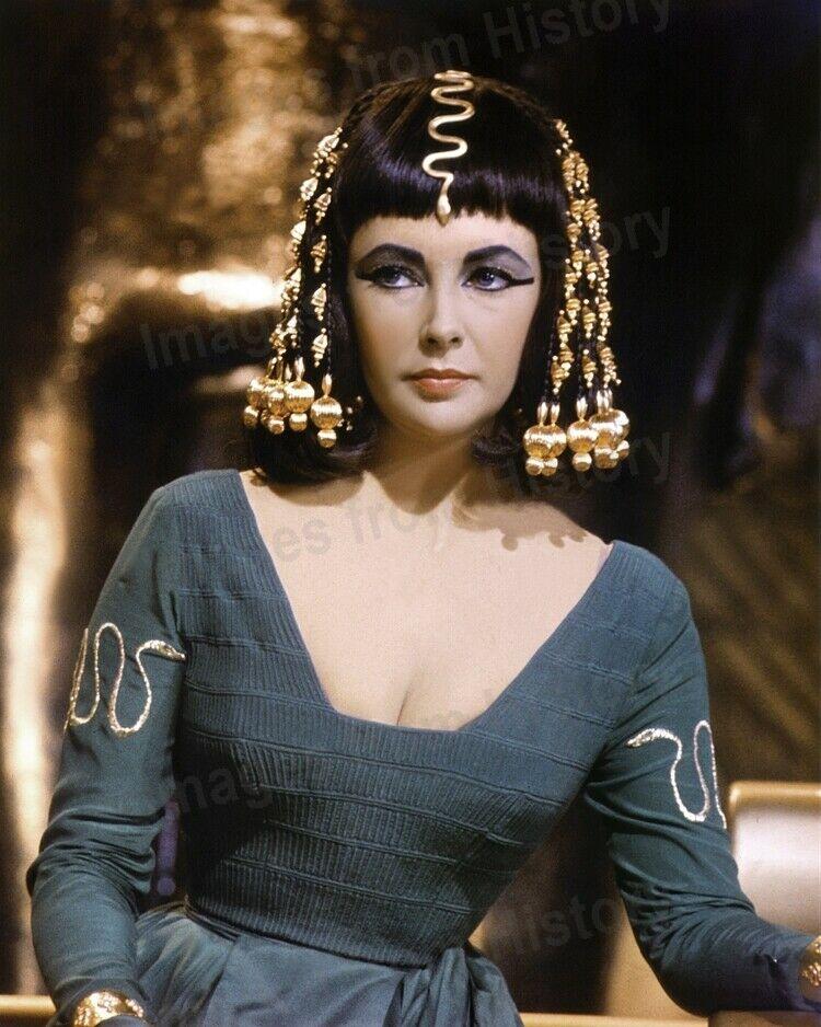8x10 Print Elizabeth Taylor Cleopatra 1963 2396 Elizabeth Taylor Cleopatra Old Hollywood Hair Cleopatra
