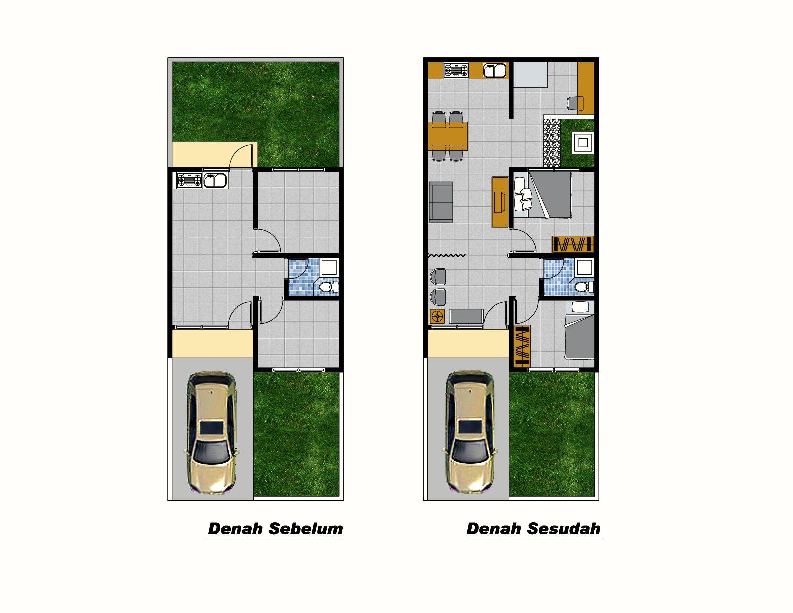 Denah Rumah Sederhana Tipe 36 2014 Minimal House Design Minimalist House Design Design Your Dream House