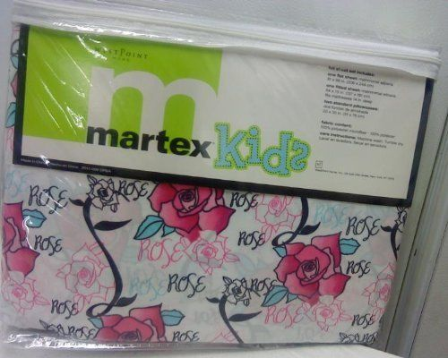 Martex Kids Microfiber Full Sheet Set Rose Rose by Martex. $32.99