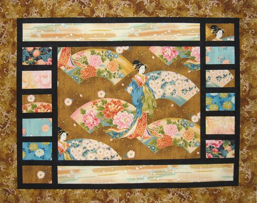 Another idea to showcase a large print/panel in a quilt.