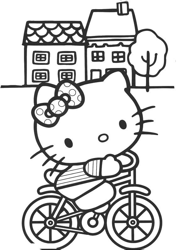 Disney Christmas Hello Kitty Coloring Page