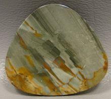 brown and blue semi precious gemstone scenic Owyhee Picture Jasper cabochon