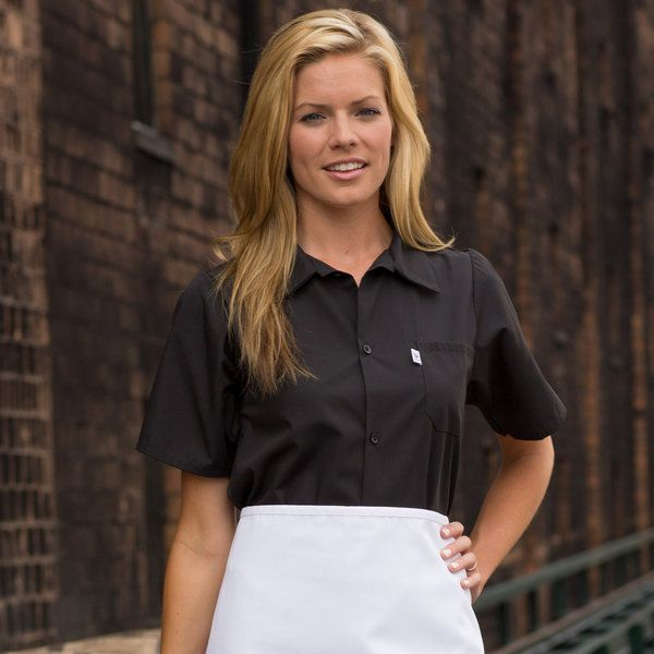 A staple in the kitchen, this Uncommon Threads 0924 black customizable short sleeve cook shirt with full mesh back makes it easy to ensure a professional presentation while keeping your staff cool and comfortable all shift long. This unisex cook shirt features a full 2