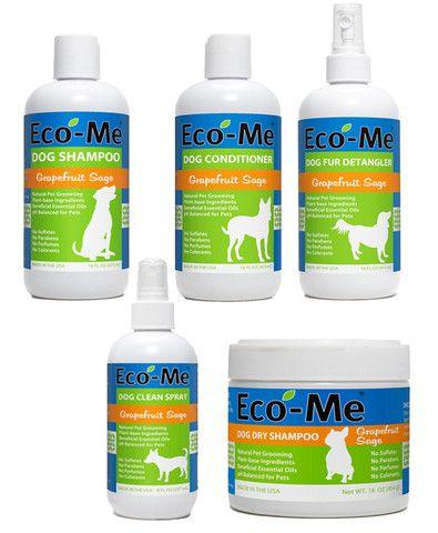 Eco Me Dog Grooming Set Grapefruit Sage Save Your Pet S Health