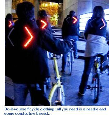 f8aa7df6180 Illuminated cycling jacket flashes when you slow down