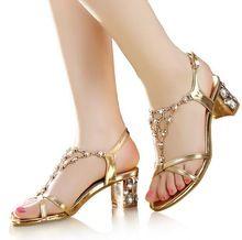 2017 genuine leather rhinestone sandals crystal high heel
