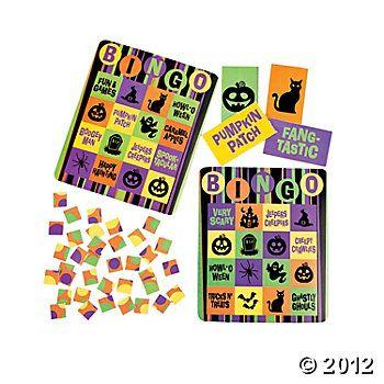 Iconic Halloween Bingo Set  IN-25/5757  #OrientalTrading #HalloweenWishList