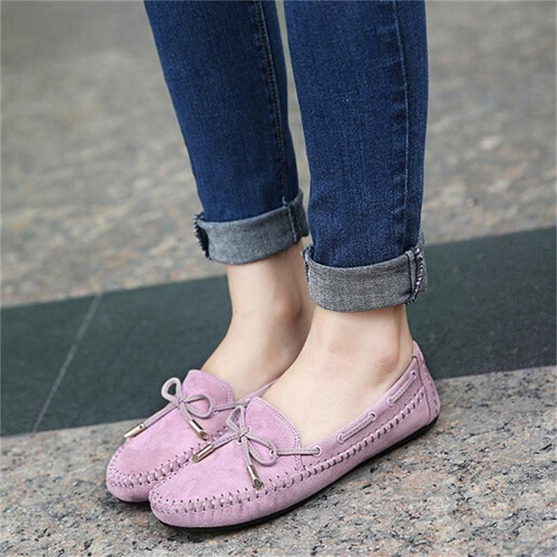 a11a5c9fdb6d 2015 Casual Bowtie Loafers Sweet Candy Colors Women Flats Solid Summer  Style Shoes Woman 4 Colors Plus Size
