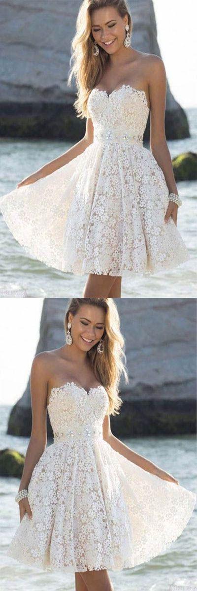 Short Prom Dresses #ShortPromDresses, Prom Dresses White #PromDressesWhite, 2018 Prom Dresses #2018PromDresses