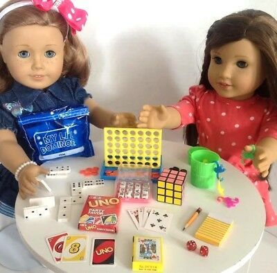 Game Night for American Girl Doll 18 Accessories Fit Playable Mini Games SET | eBay