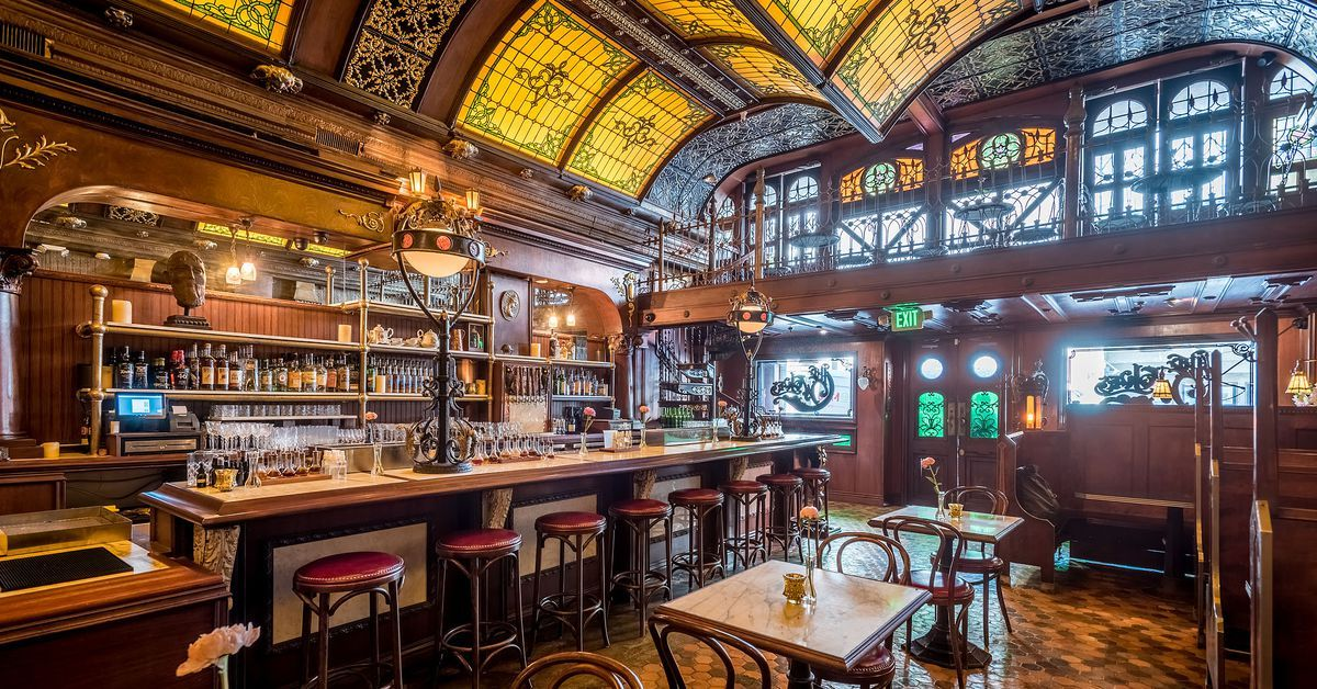 A stunning parisian salonstyled cocktail bar called the