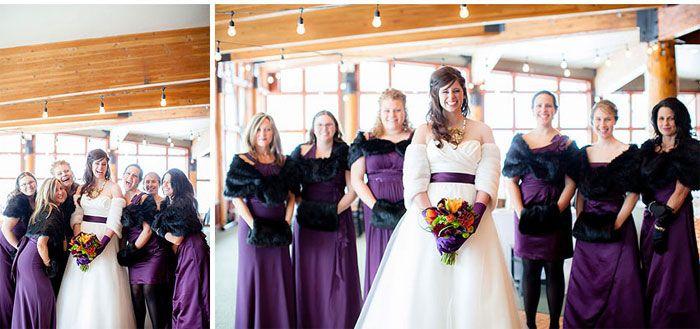 Purple Winter Wedding From Amy Lashelle Wedding Photography