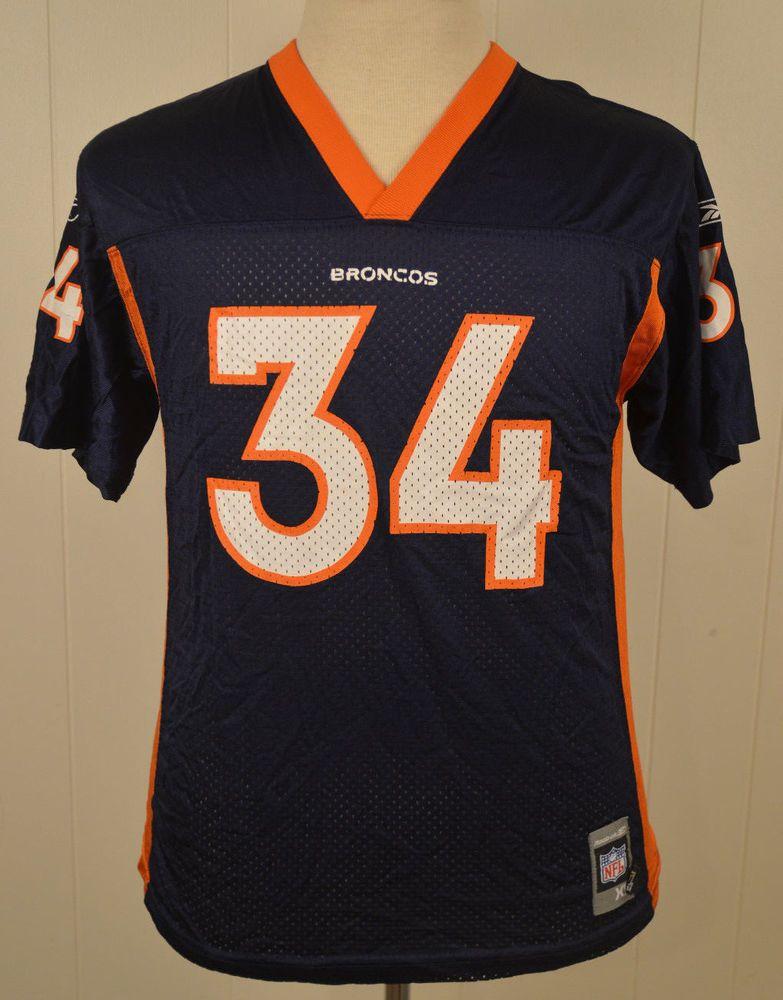 Reebok Denver Broncos #34 Reuben Droughns Jersey Youth Extra Large