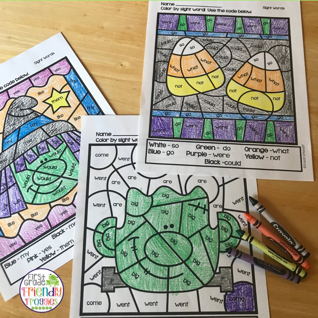 Math Coloring Sheets For Halloween