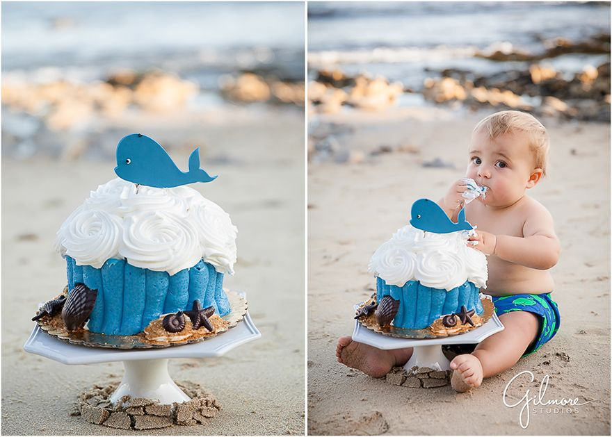 1st Birthday Cake Smash At Corona Del Mar Beach Orange County