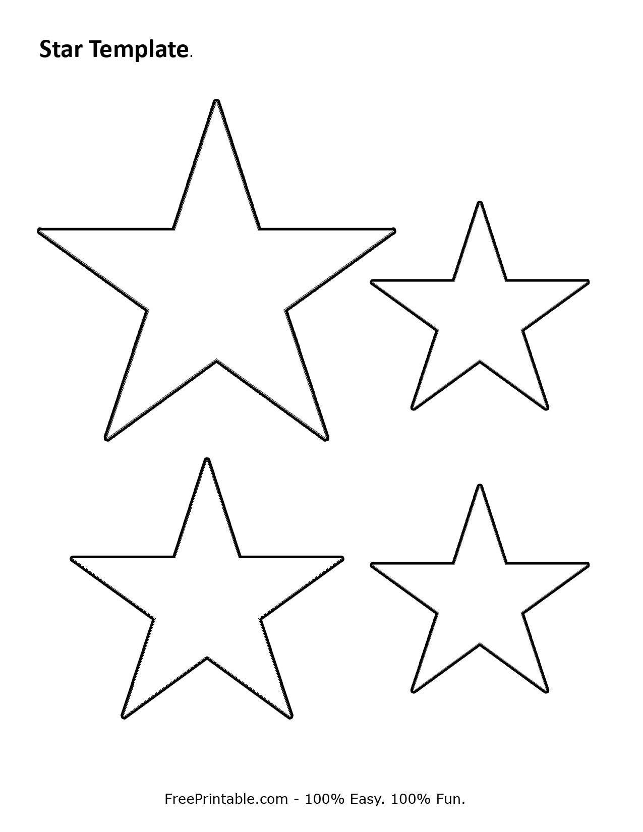 Printable Stars Template 2
