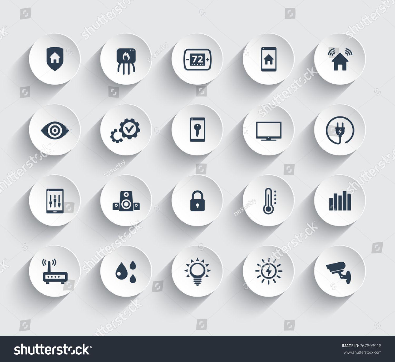 Smart House Automation System Icons Set Ensembles D Icones Modele Powerpoint Gratuit Icone