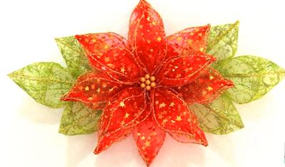 Cómo Hacer Flores Navideñas Con Listón De Organza Paso Por Paso Mimundomanual Como Hacer Nochebuenas Como Hacer Flores Flor Navideña