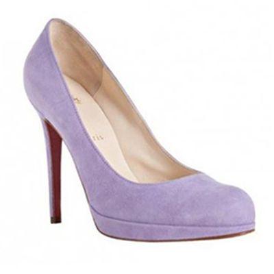 Christian Louboutin velvet pump. 4 covered heel. Pointed