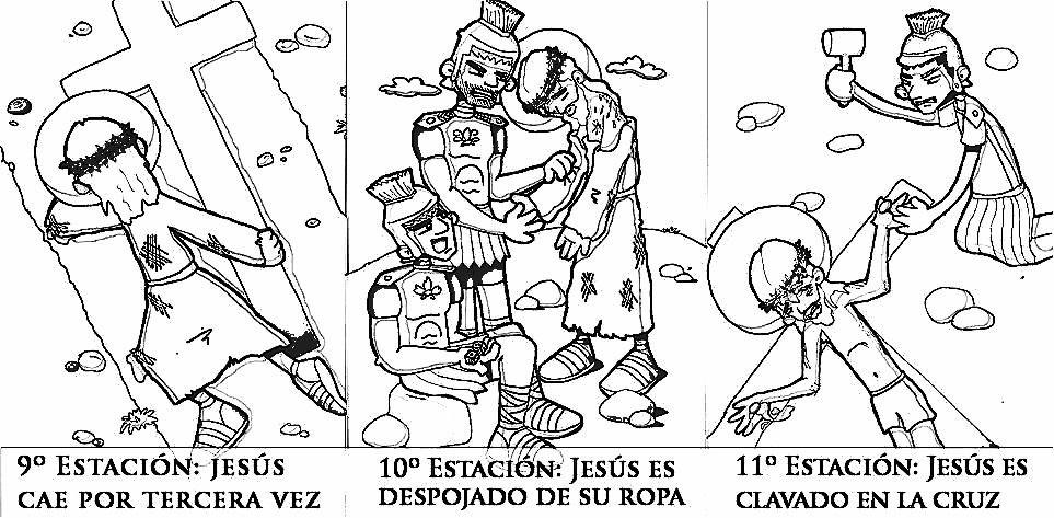 Dibujos Colorear Vía Crucis Para Niños Pascua Via Crucis Para