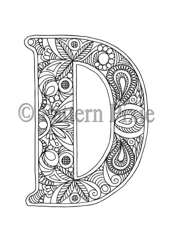 colouring page alphabet letter quot d quot раскраски