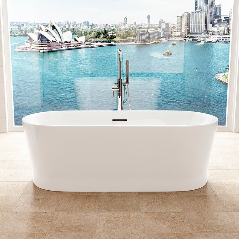 The Brentwood 1690 x 750mm Double Ended Freestanding Bath Tub is ...