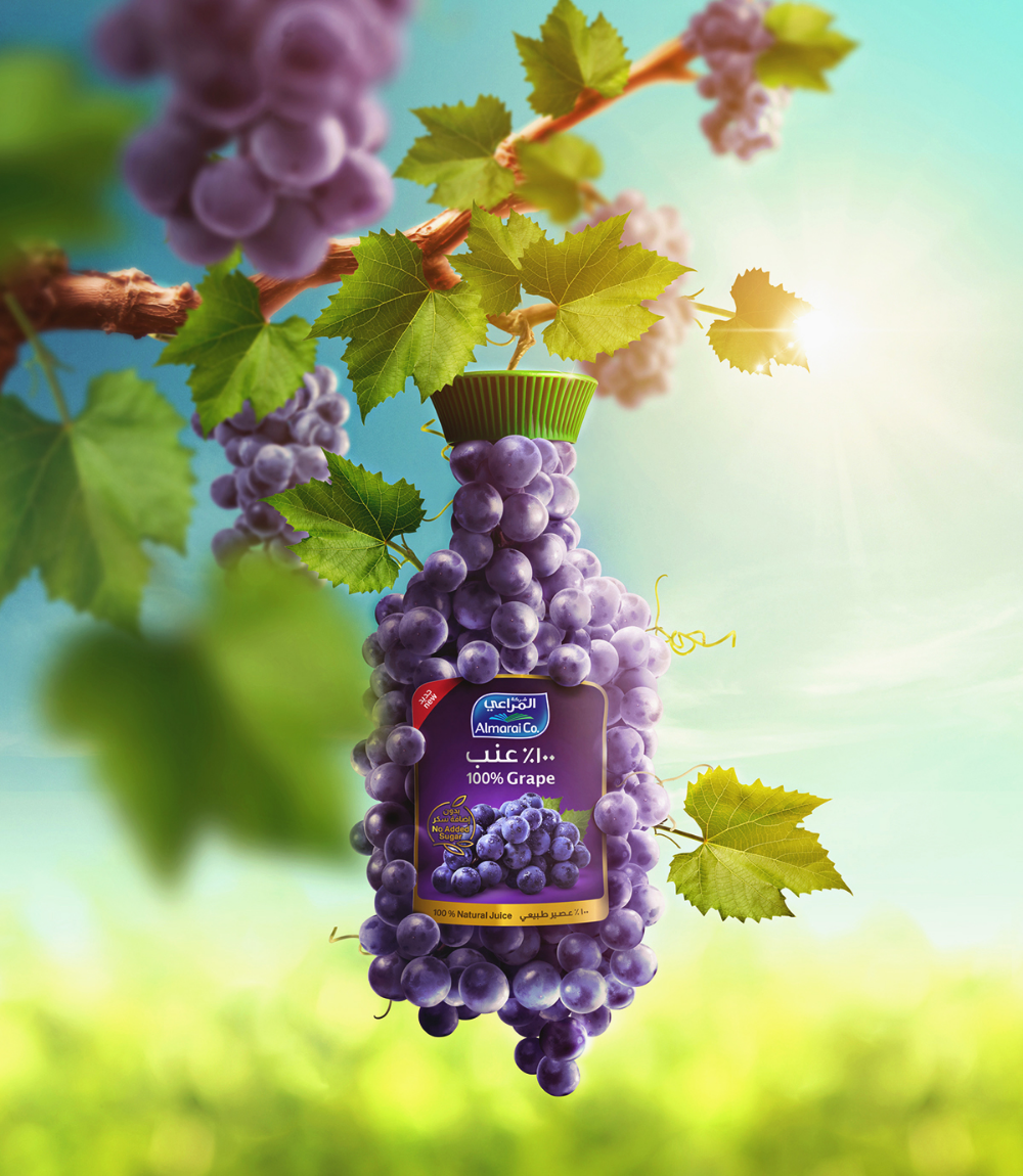 Almarai Natural Grape On Behance Graphic Design Advertising Creative Posters Ads Creative