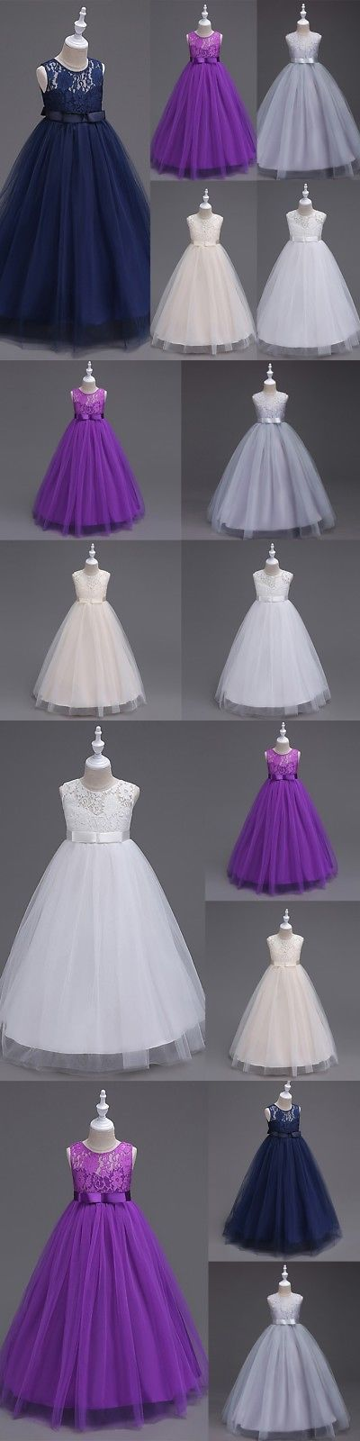 a461cdb5f Girls Formal Occasion 3263  Lace Flower Girl Dress Maxi Long Formal ...