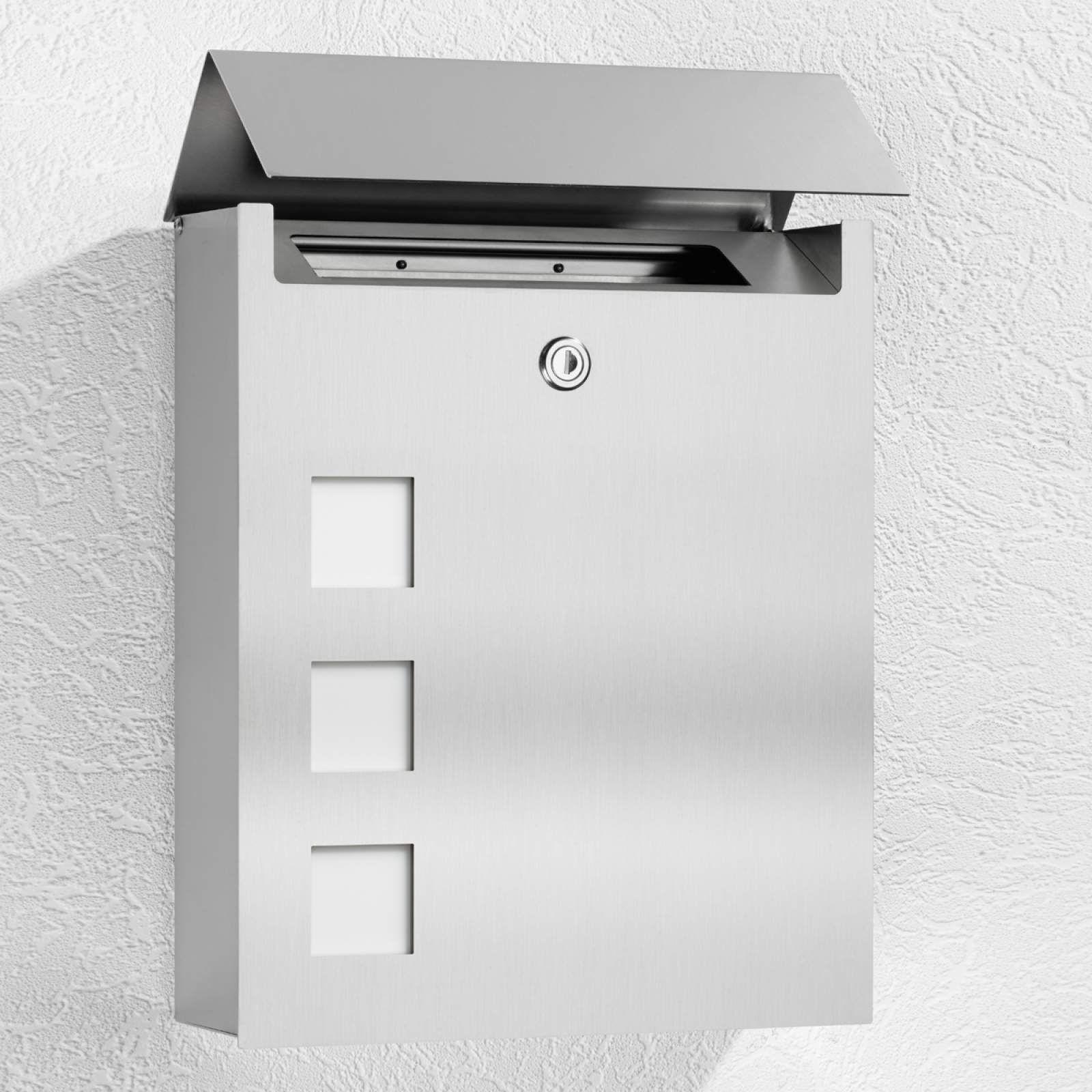 Moderner Briefkasten Ulani Von Cmd Grau Briefkasten Stahl Und