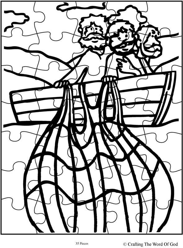 Miraculous Catch Of Fish Puzzle (Activity Sheet) Activity